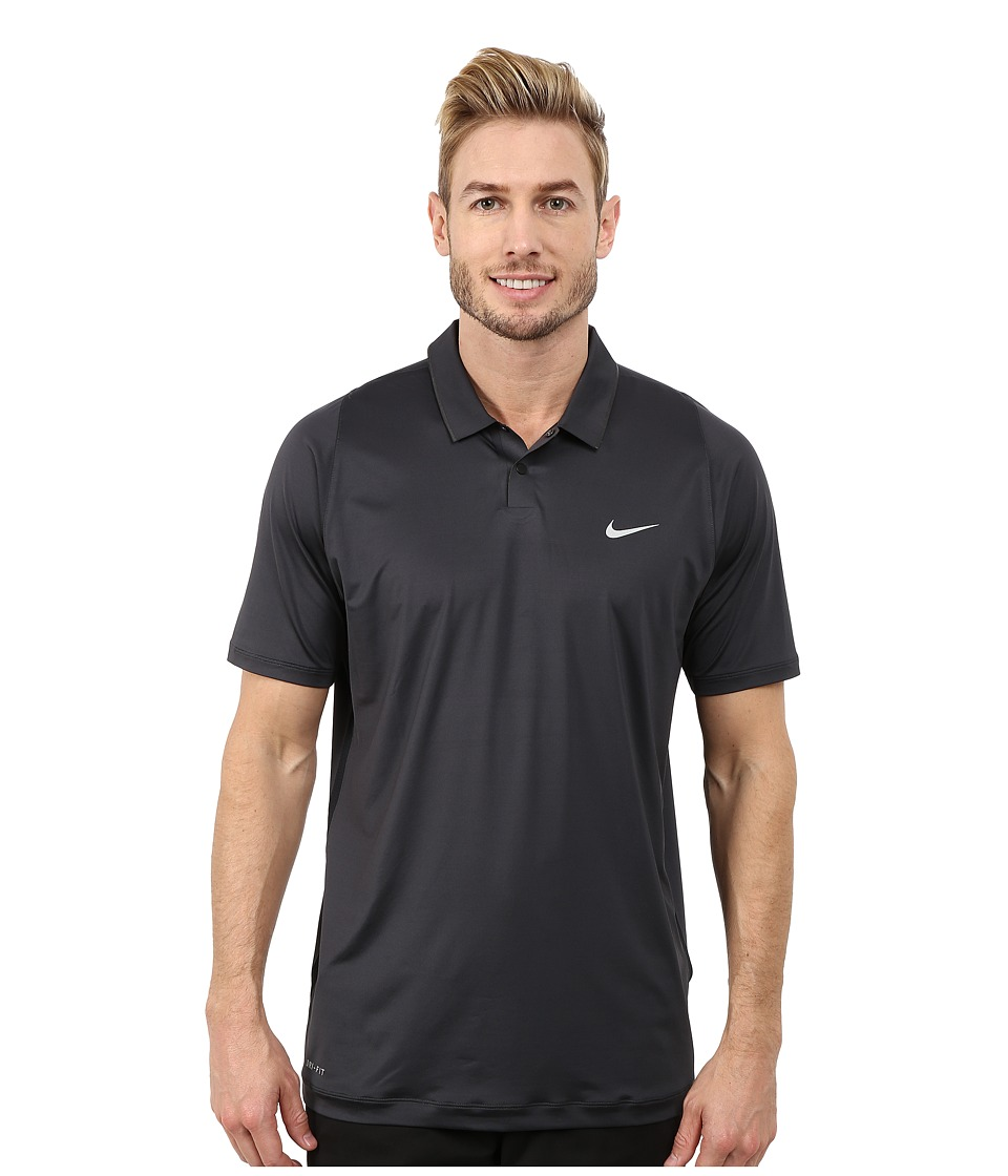 Nike Golf - Tiger Woods Velocity Ultra Polo Shirt (Anthracite/Black/Reflective Silver) Men's Short Sleeve Pullover