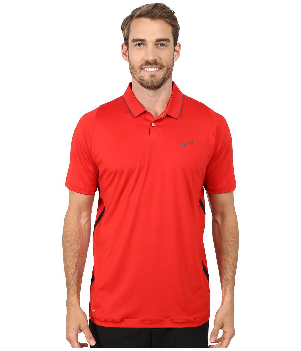 Nike Golf - Tiger Woods Velocity Ultra Polo Shirt (Univeristy Red/Black/Reflective Black) Men's Short Sleeve Pullover