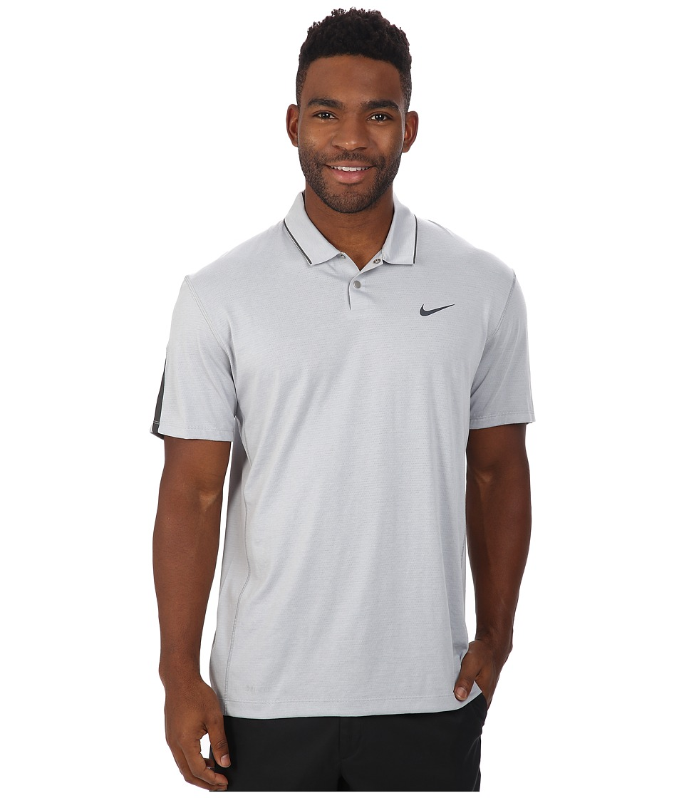 Nike Golf - Tiger Woods Kimono Heather Mesh Polo Shirt (Wolf Grey/Heather/Cool Grey/Reflective Black) Men's Short Sleeve Pullover