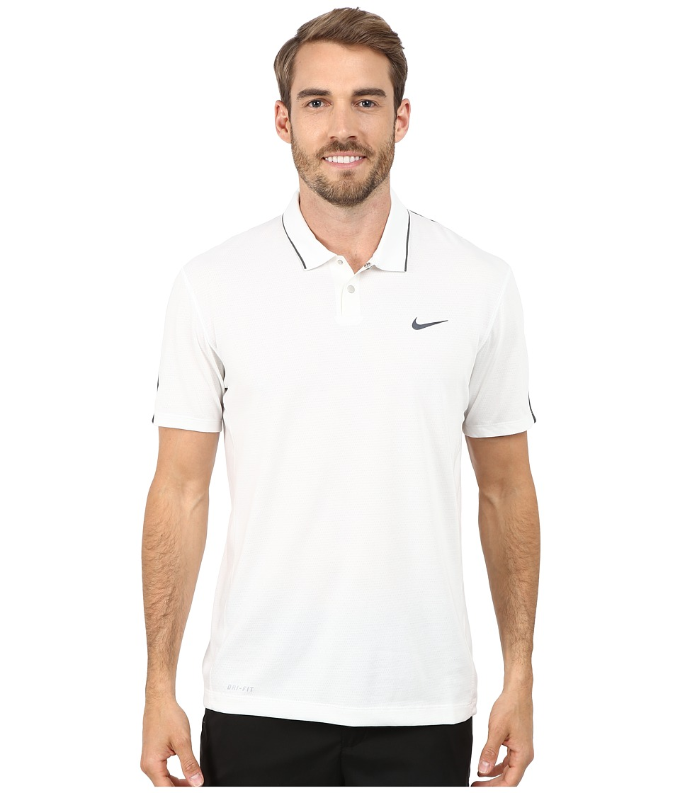Nike Golf - Tiger Woods Kimono Heather Mesh Polo Shirt (Summit White/Heather/Cool Grey/Reflective Black) Men's Short Sleeve Pullover