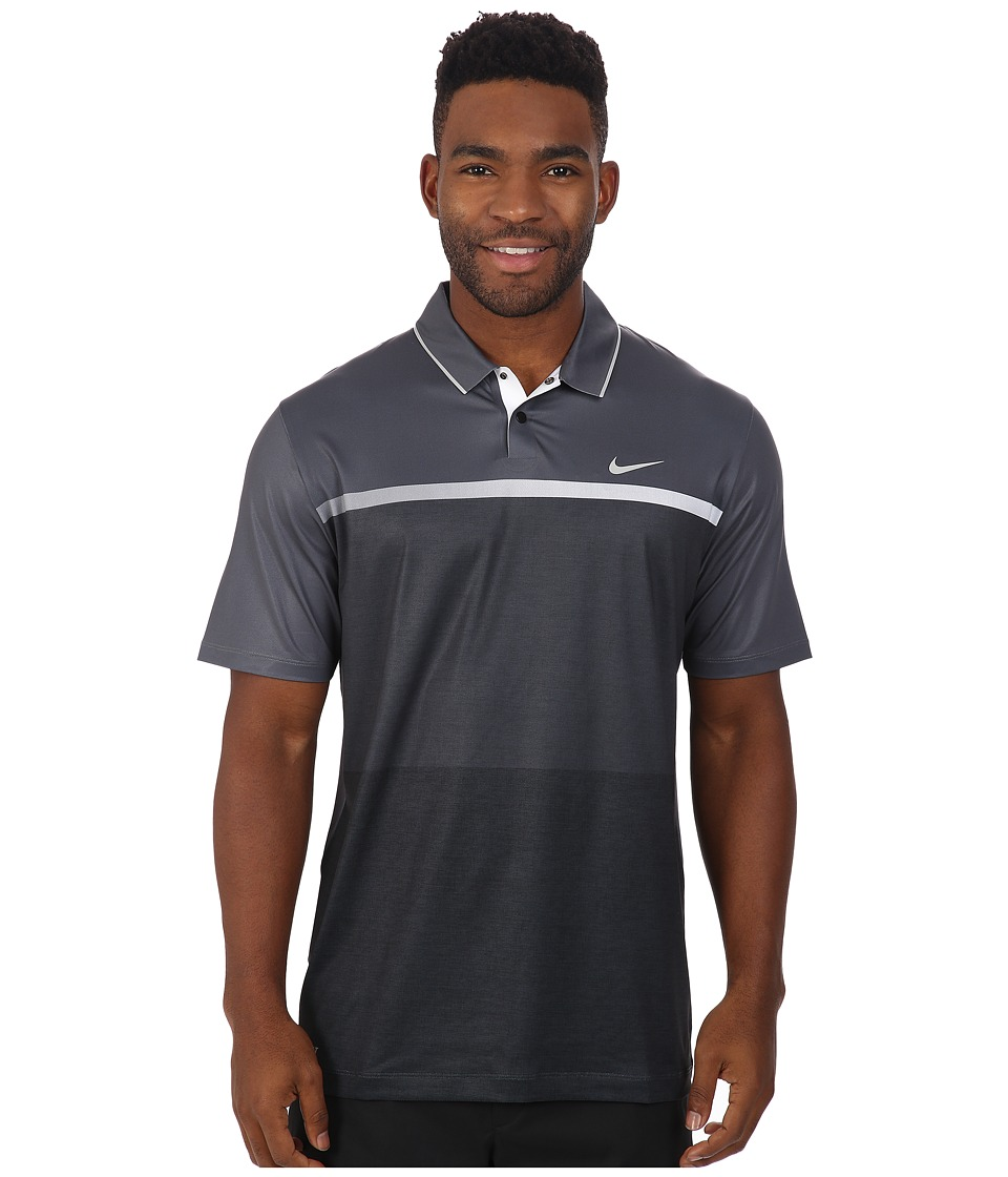 Nike Golf - Tiger Woods Mobility Print Polo Shirt (Dark Grey/White/Anthracite/Reflective Silver) Men's Short Sleeve Pullover