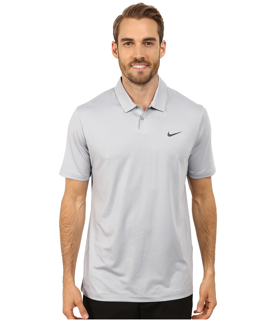 Nike Golf - Tiger Woods Mobility Camo Embossed Polo Shirt (Wolf Grey/Dark Grey/Anthracite) Men's Short Sleeve Pullover