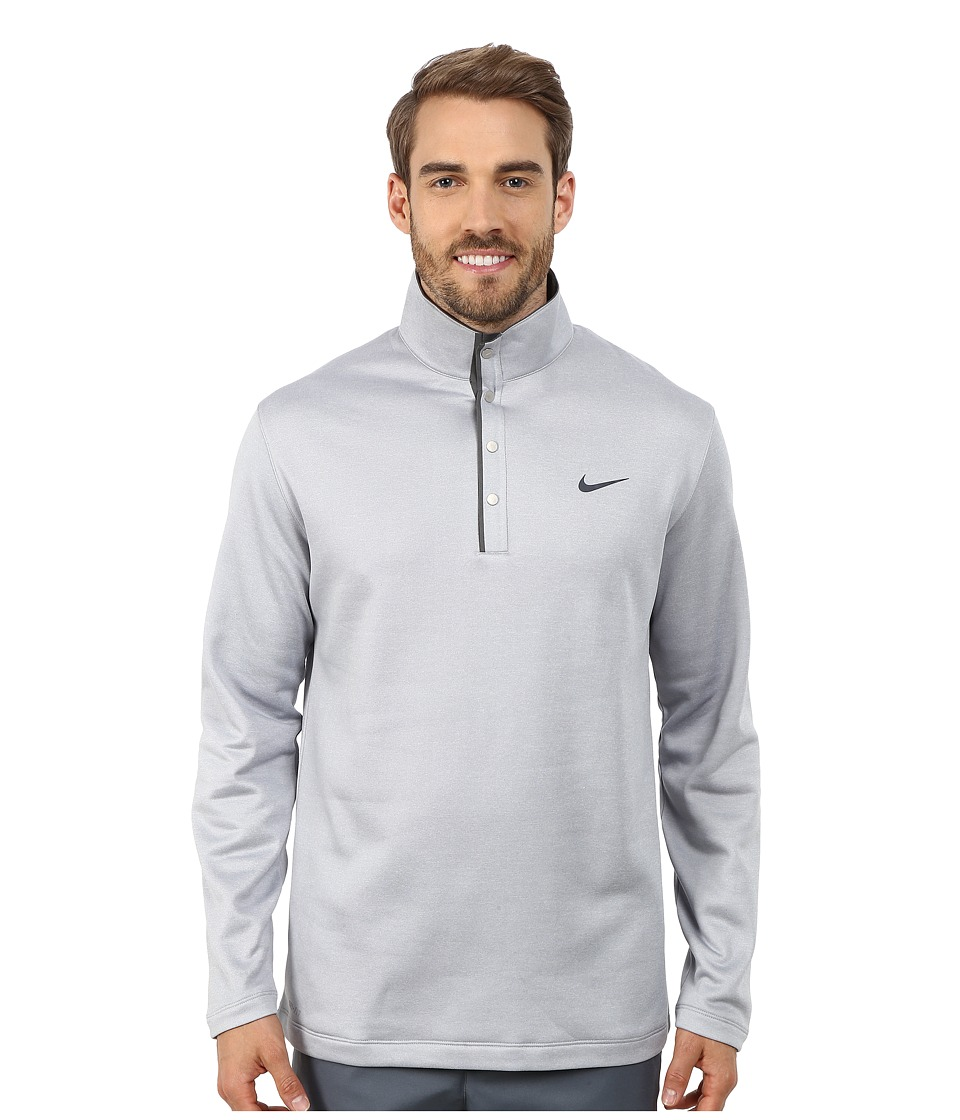 Nike Golf - Tiger Woods Therma-Fit Hybrid Polo Shirt (Wolf Grey/Dark Grey/Anthracite/Reflective Black) Men's Short Sleeve Pullover