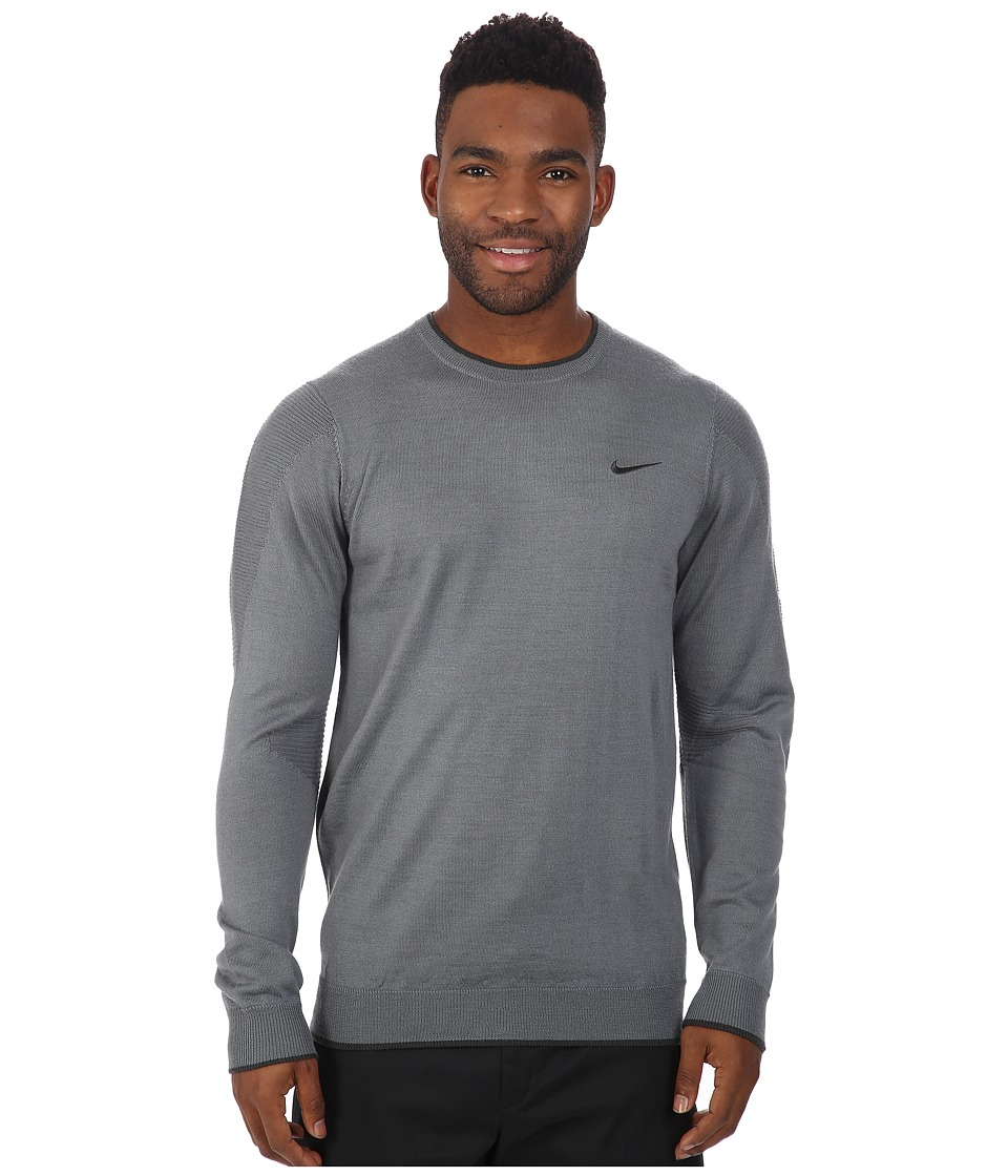 Nike Golf - Tiger Woods Engineered Sweater 2.0 (Cool Grey/Anthracite/Anthracite) Men's Sweater