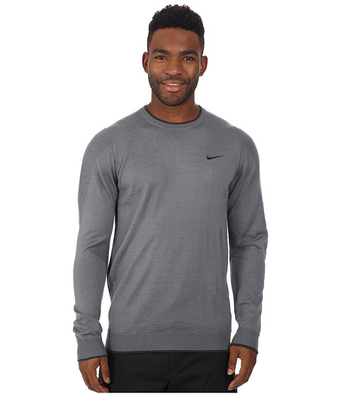 Nike Golf - Tiger Woods Engineered Sweater 2.0 (Cool Grey/Anthracite/Anthracite) Men