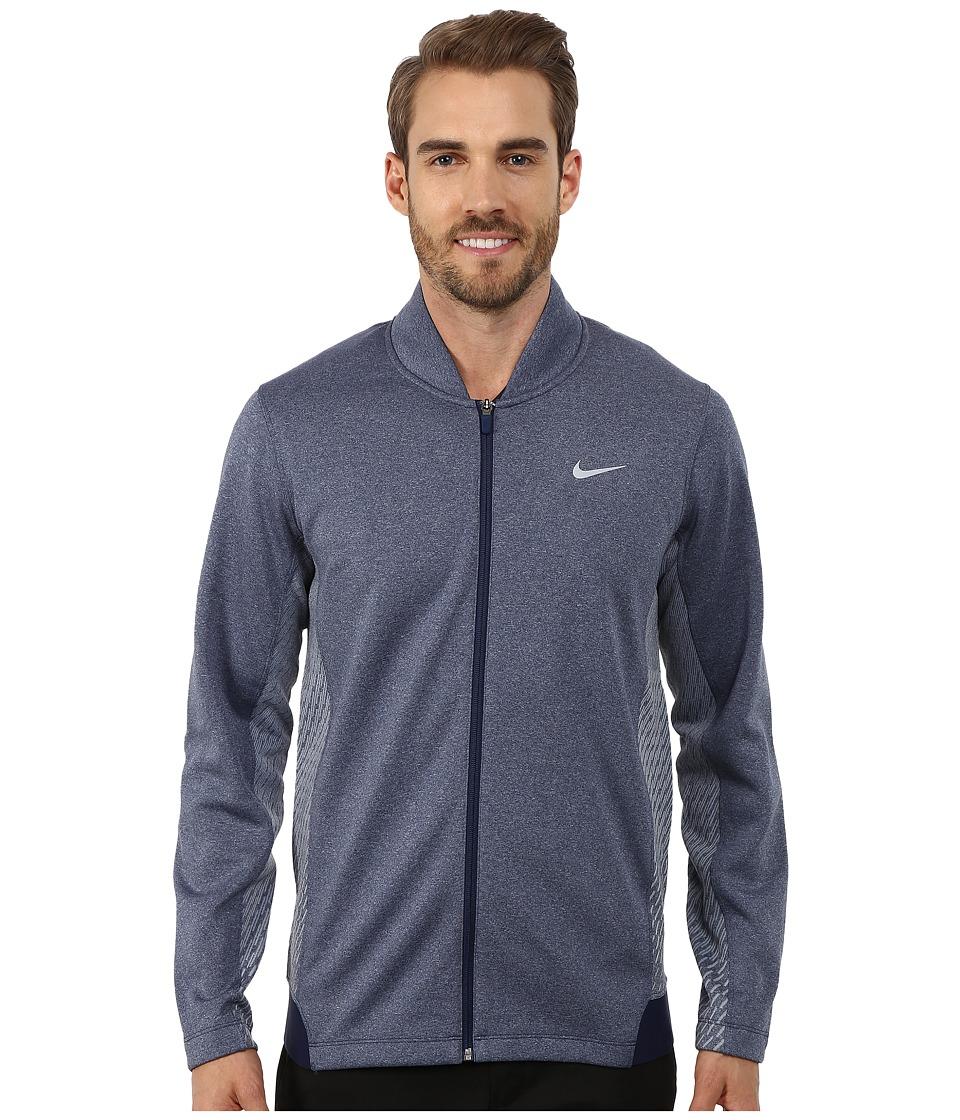 Nike Golf - Tiger Woods Hypervis Full-Zip Jacket (Midnight Navy/Photo Blue/Wolf Grey) Men
