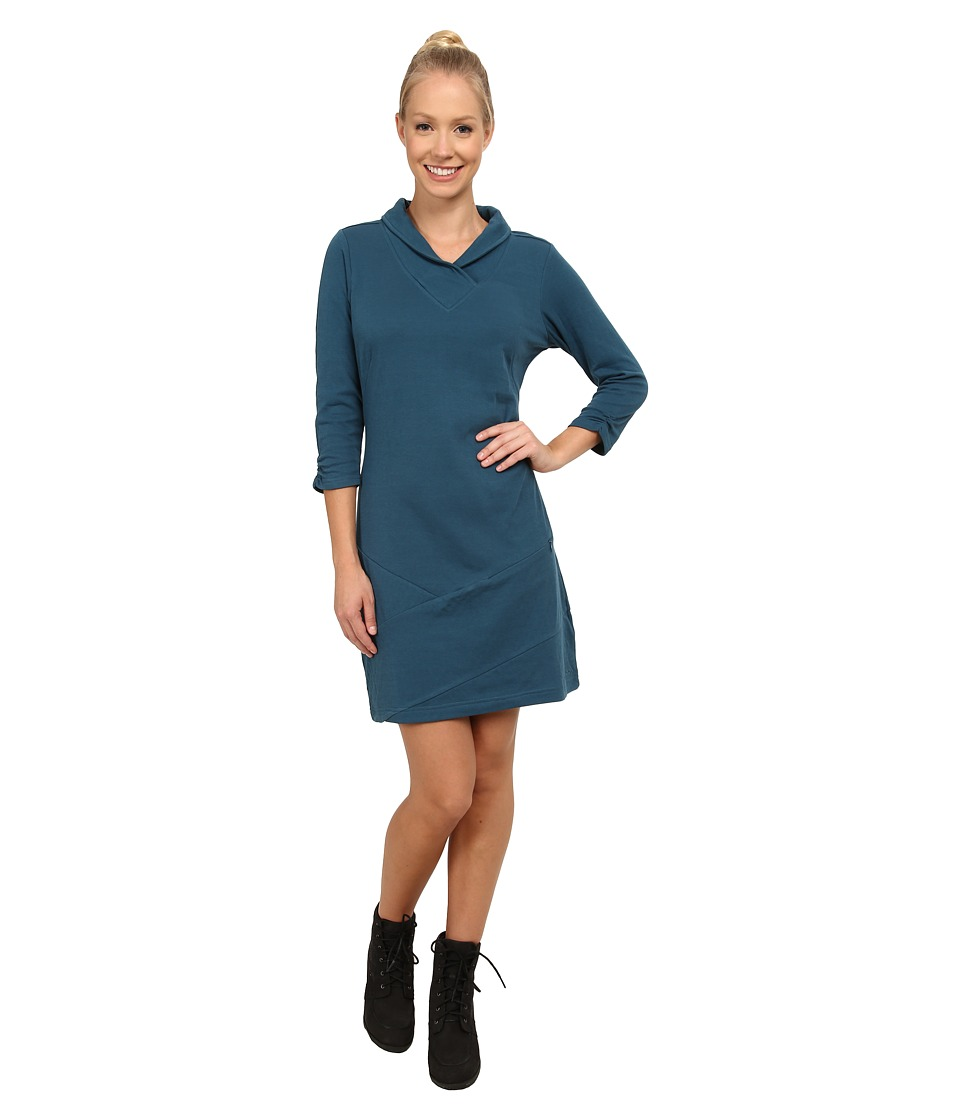 ExOfficio - Fionna 3/4 Sleeve Dress (Marina) Women's Dress