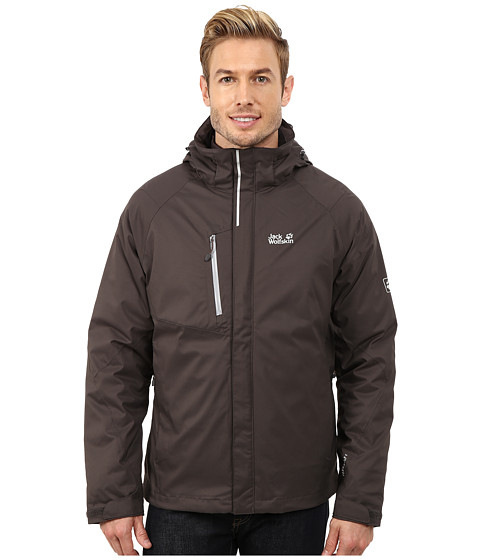 Jack Wolfskin - Troposphere Downfiber O2+ 3-In-1 Jacket (Dark Steel) Men