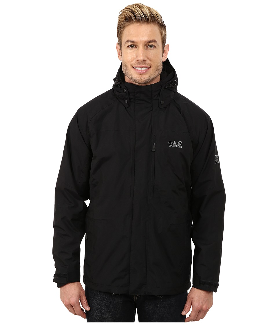 Jack Wolfskin - Brooks Range 3-In-1 Jacket (Black) Men's Coat