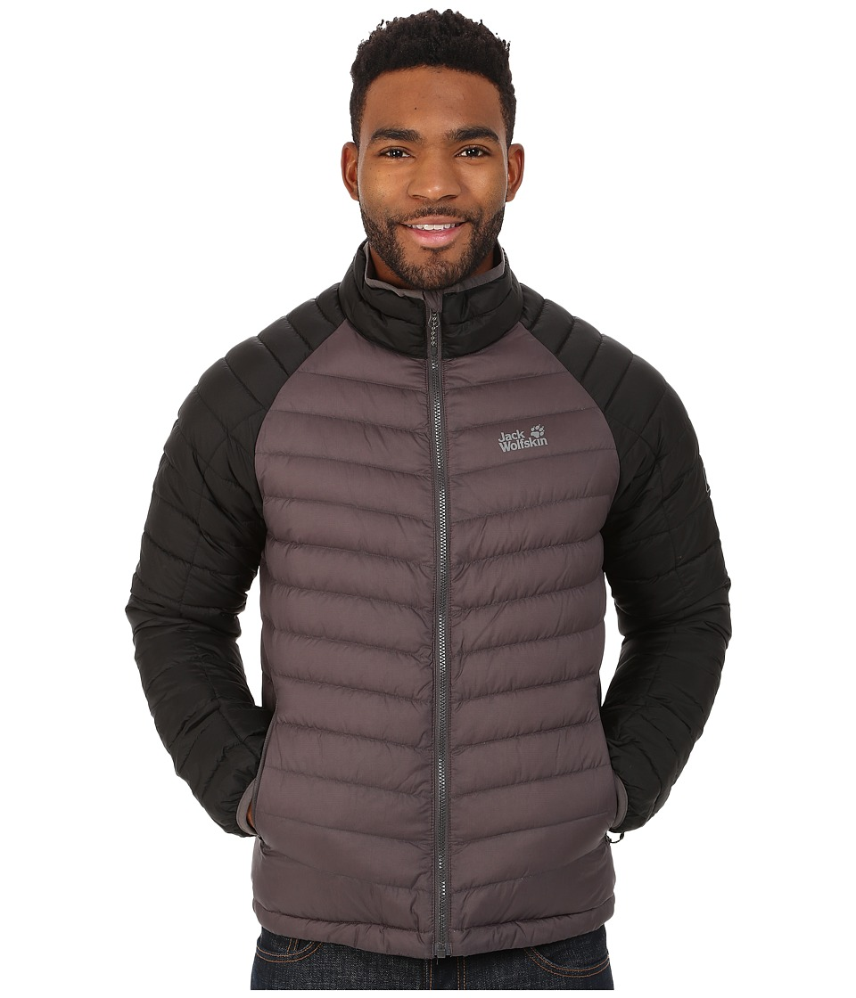 Jack Wolfskin - Zenon Basic Snap-In Jacket (Dark Steel) Men