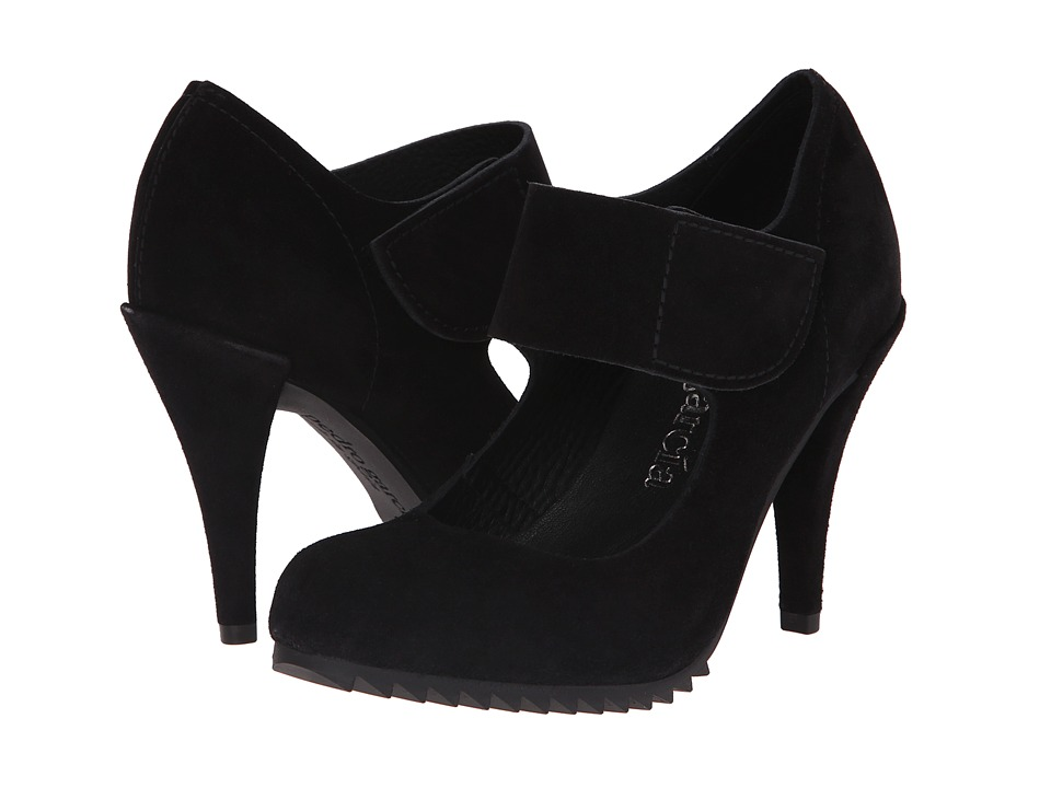 Pedro Garcia - Yizze (Black Castoro Suede) Women's Maryjane Shoes
