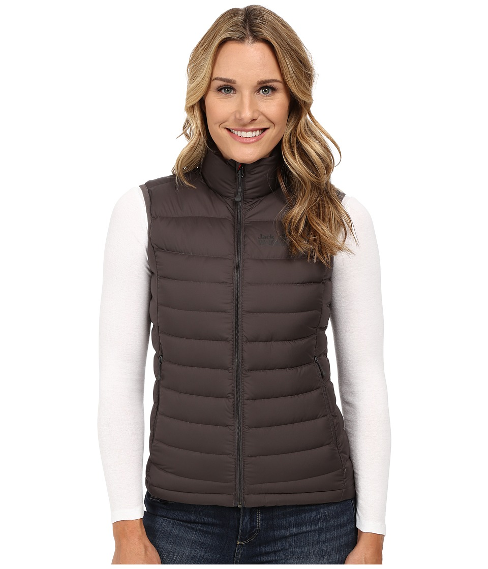 Jack Wolfskin - Helium Down Vest (Dark Steel) Women