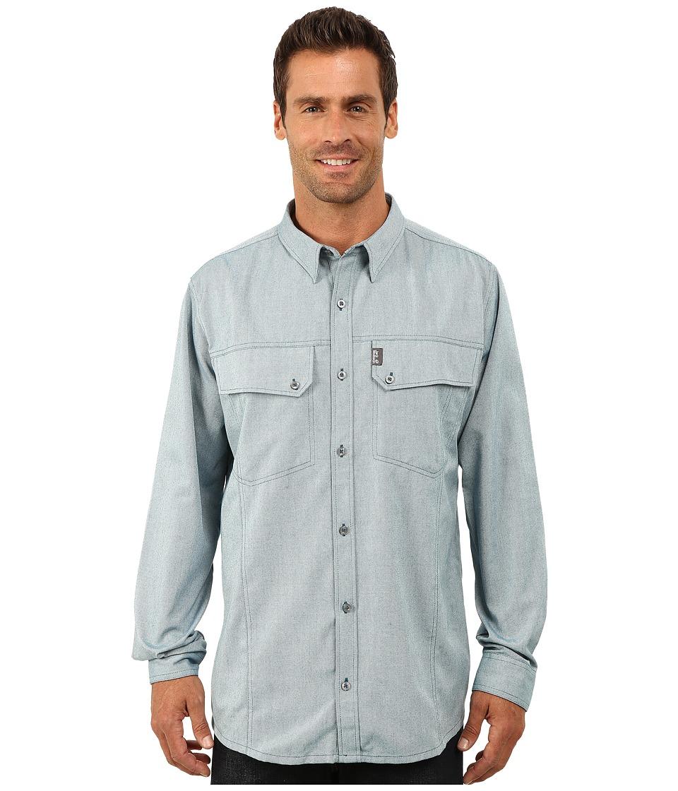 Jack Wolfskin - Gander Long Sleeve Shirt (Moroccan Blue) Men's Long Sleeve Button Up