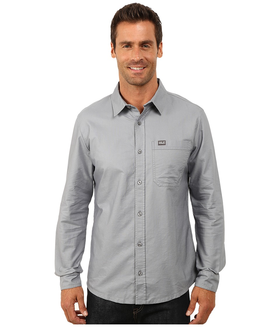 Jack Wolfskin - Eagle OC Long Sleeve Shirt (Grey Blue) Men