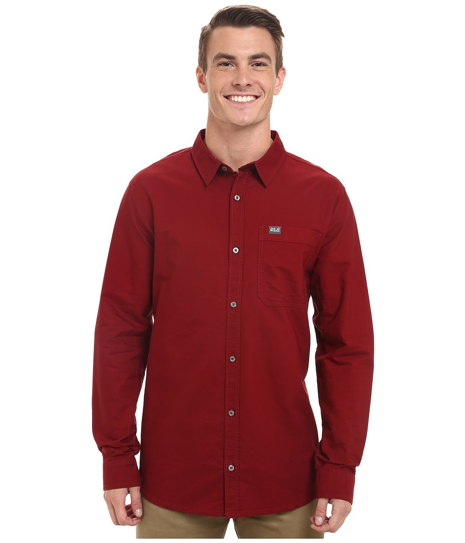 Jack Wolfskin - Eagle OC Long Sleeve Shirt (Dried Tomato) Men