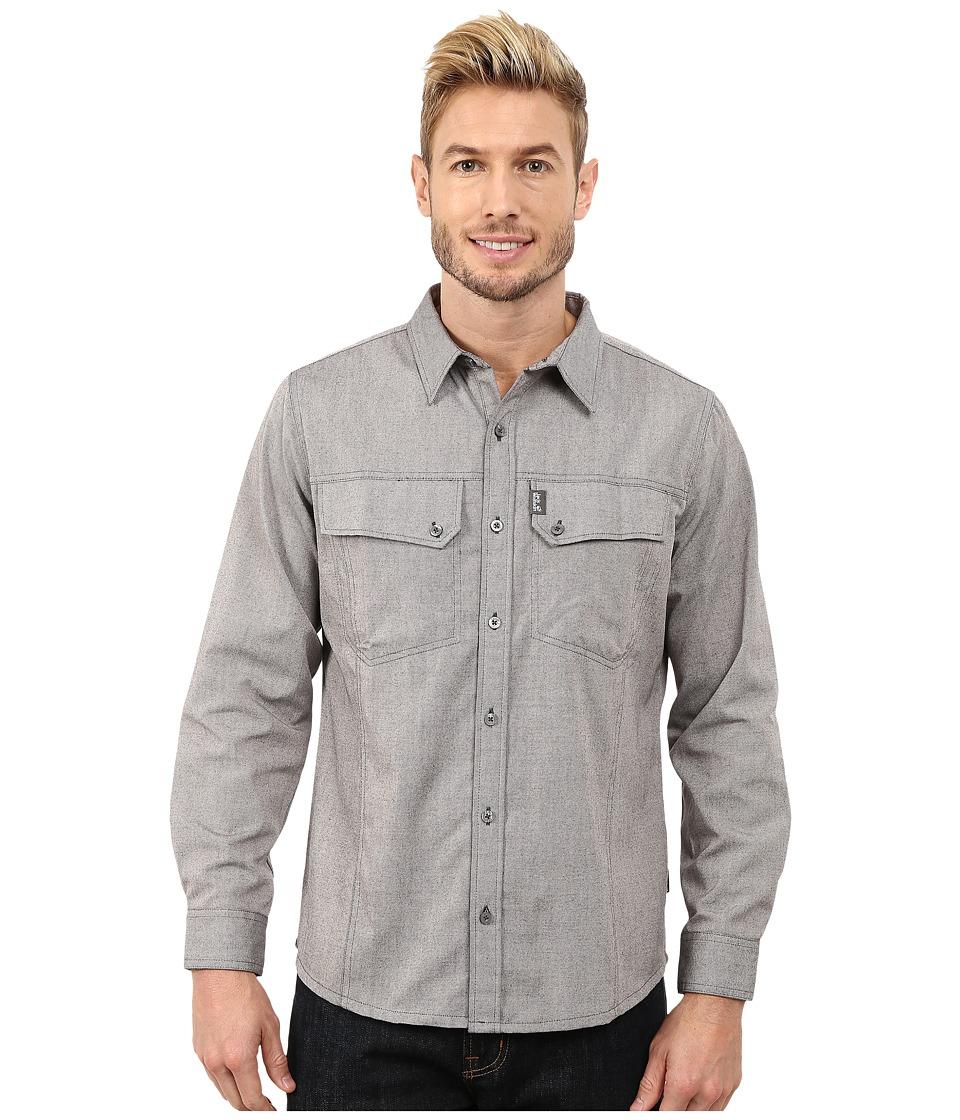Jack Wolfskin - Gander Long Sleeve Shirt (Dark Steel) Men's Long Sleeve Button Up
