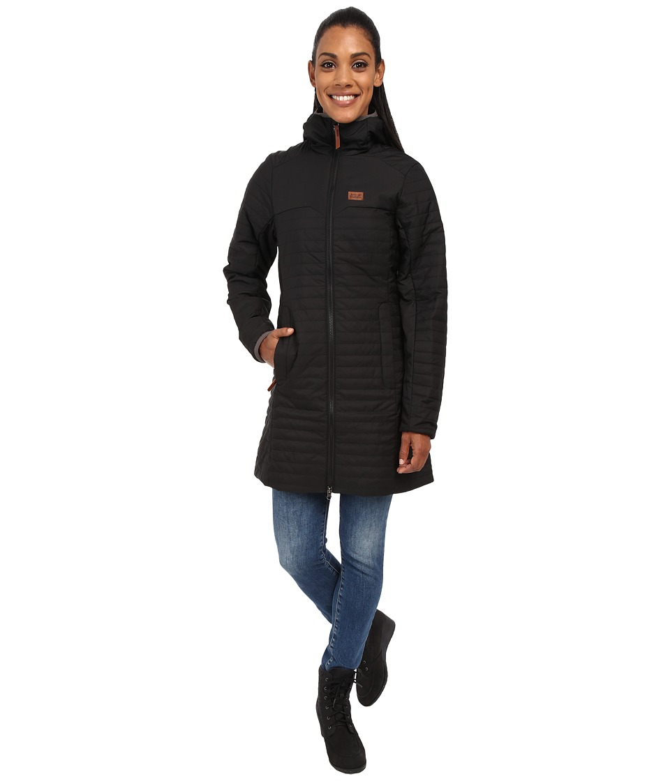 Jack Wolfskin - Clarenville Insulated Coat (Black) Women's Coat