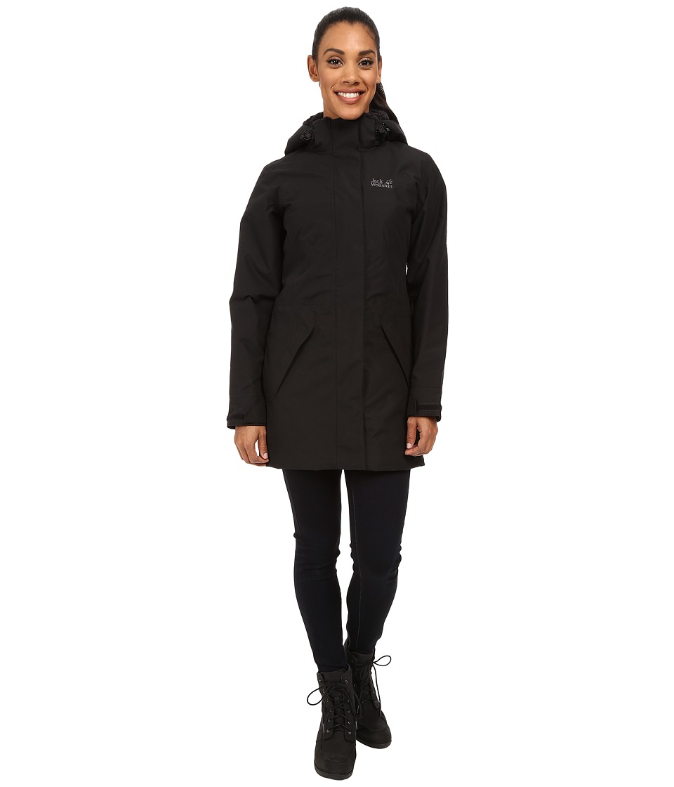 Jack Wolfskin - 5th Avenue Coat (Black) Women