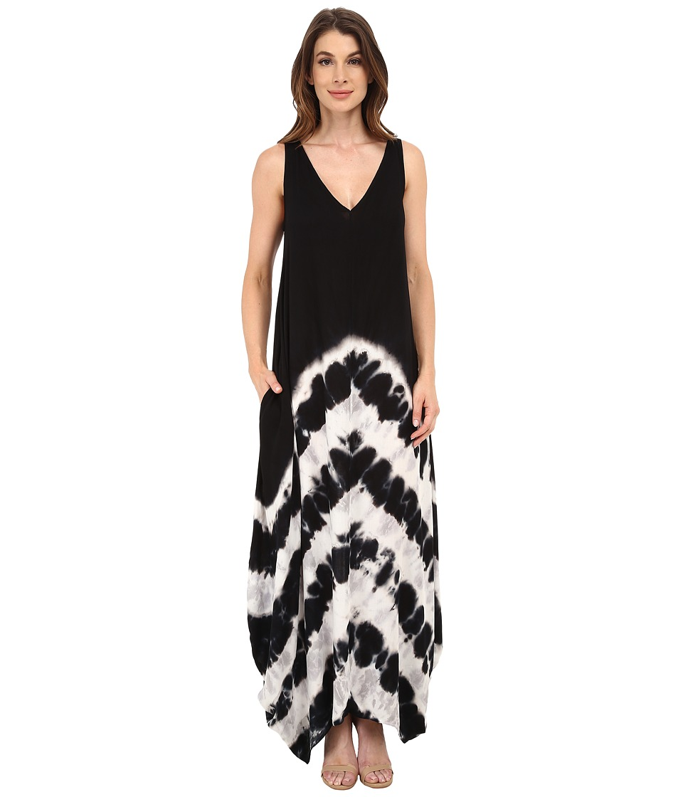 Young Fabulous & Broke - Ali Maxi (Black Chevron Stripe) Women's Dress