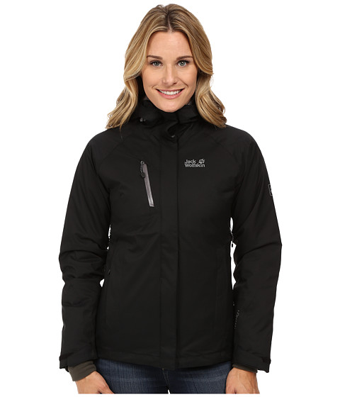 Jack Wolfskin - Troposphere DF O2+ Insulated Jacket (Black) Women's Coat