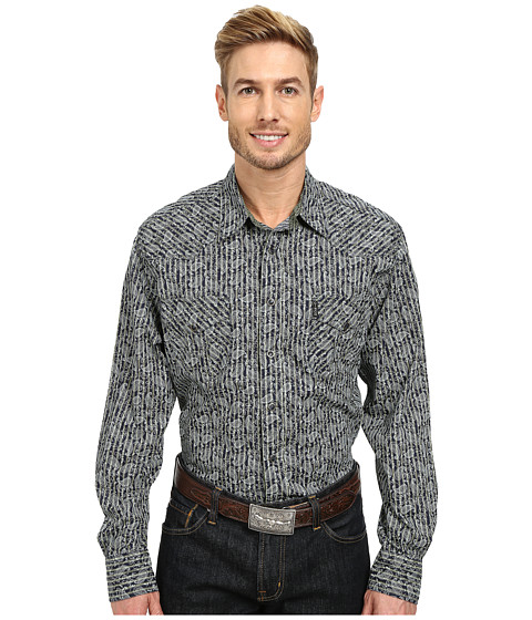 Cinch - Modern Fit Western Plain Shirt (Navy) Men