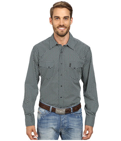 Cinch - Modern Fit Western Plain Shirt (Black) Men