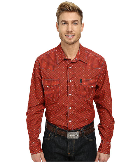 Cinch - Modern Fit Western Plain Shirt (Red2) Men