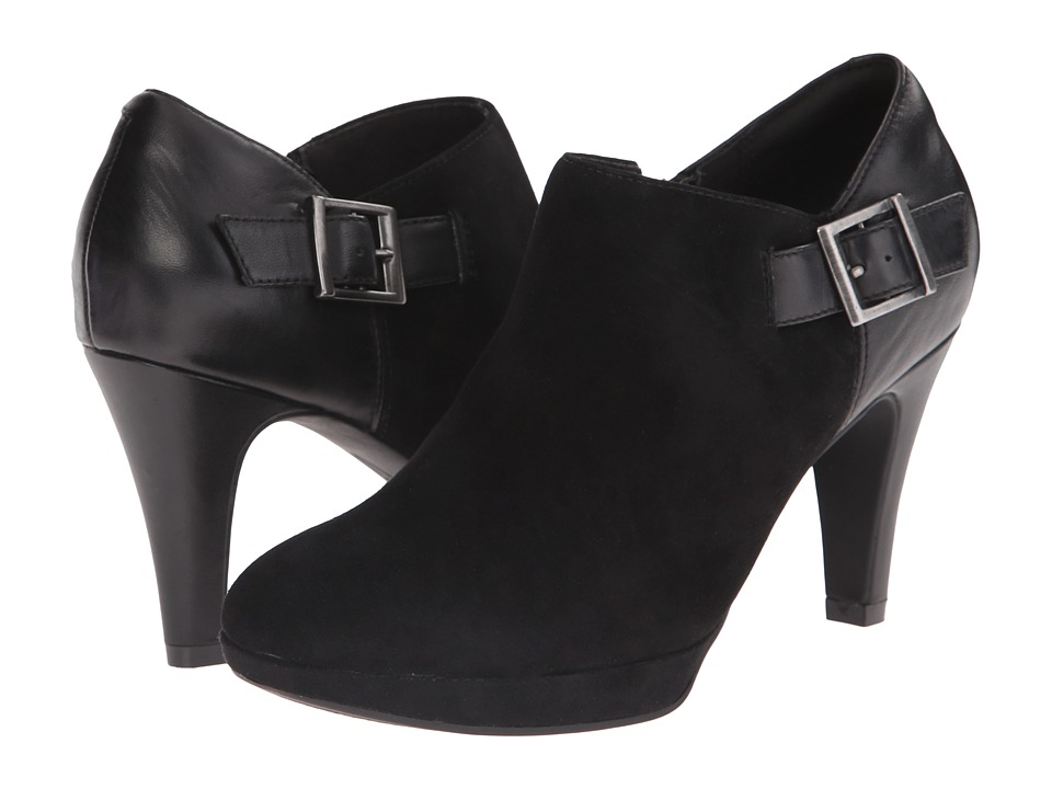 Clarks - Narine Ada (Black Leather/Suede) High Heels