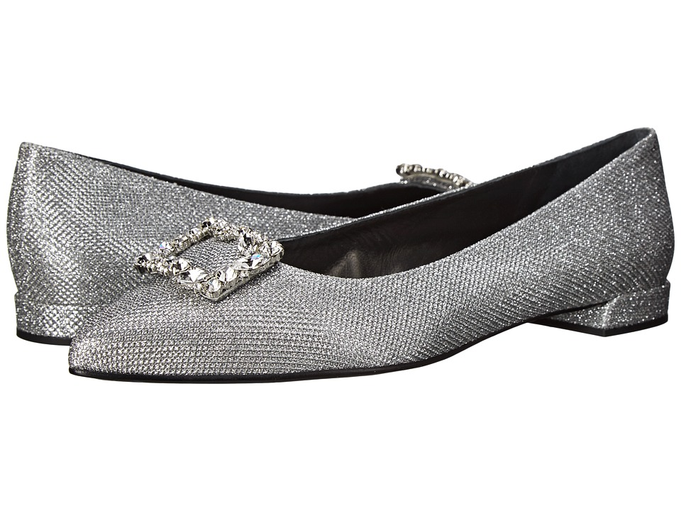 Stuart Weitzman Bridal & Evening Collection - Divine (Silver Noir) Women's Dress Flat Shoes