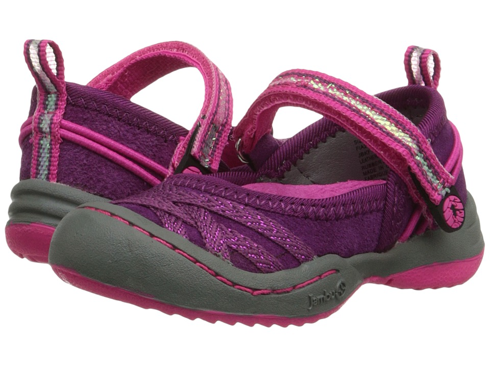 Jambu Kids - Fia 2 (Toddler) (Burgundy/Hot Pink) Girls Shoes