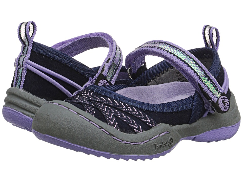 Jambu Kids - Fia 2 (Toddler) (Navy/Lilac) Girls Shoes