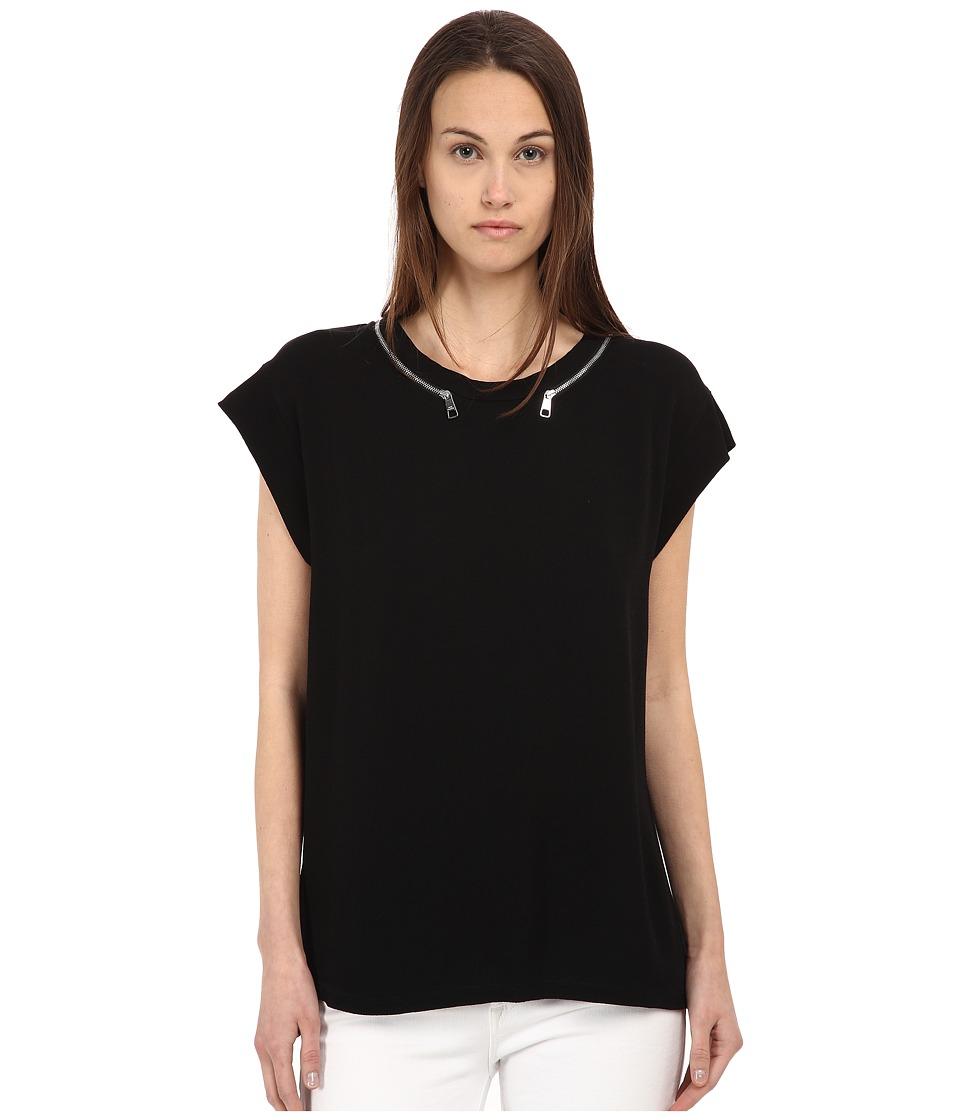 Neil Barrett - NJE470 (Black) Women's Short Sleeve Pullover