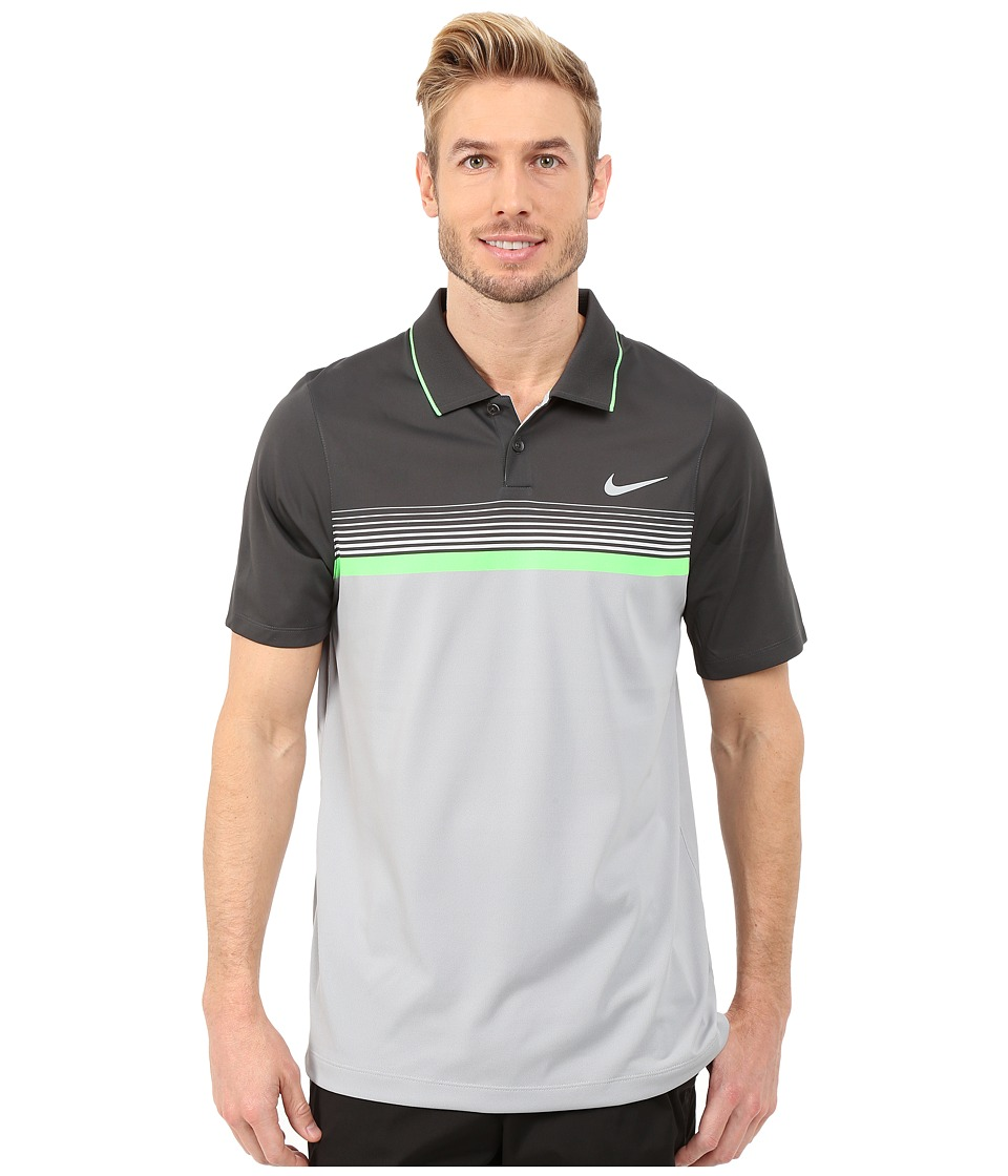Nike Golf - Momentum Stripe Polo (Wolf Grey/Anthracite/Green Strike/Reflective Silver) Men's Clothing