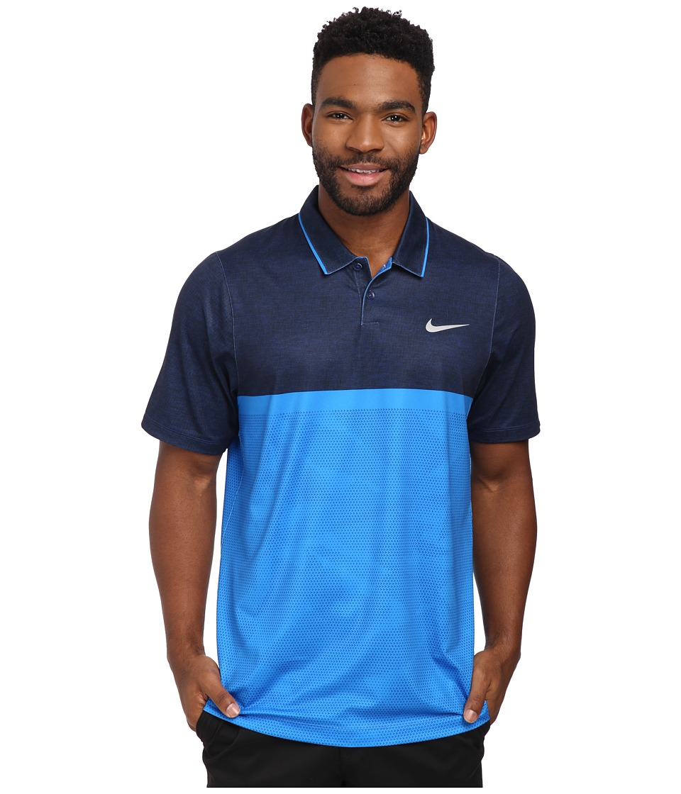 Nike Golf - Momentum Camo Polo (Photo Blue/Photo Blue/Deep Royal Blue/Wolf Grey) Men's Clothing