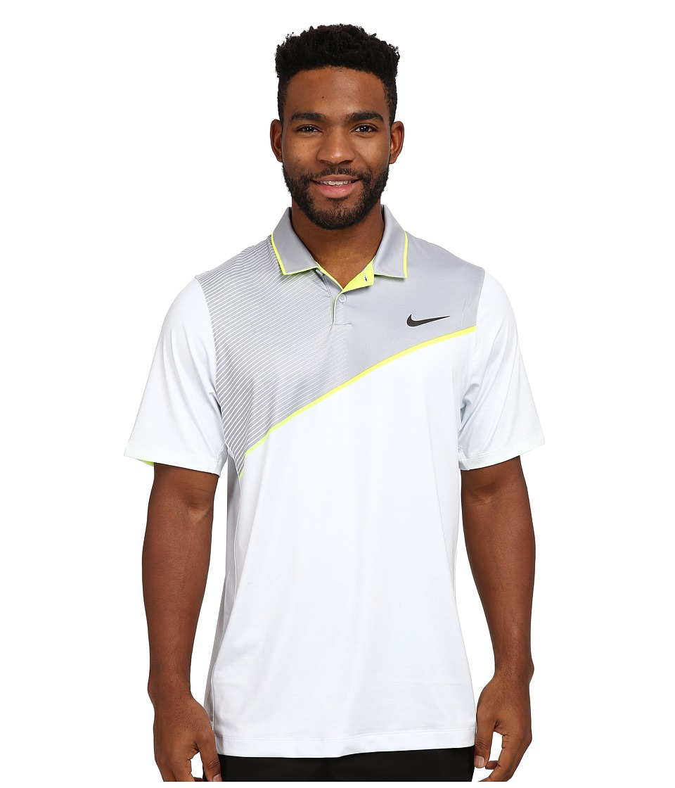 Nike Golf - Momentum 26 Polo (Pure Platinum/Volt/Anthracite) Men's Clothing