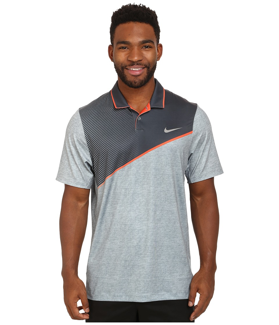 Nike Golf - Momentum 26 Polo (Cool Grey/Electro Orange/Silver) Men's Clothing