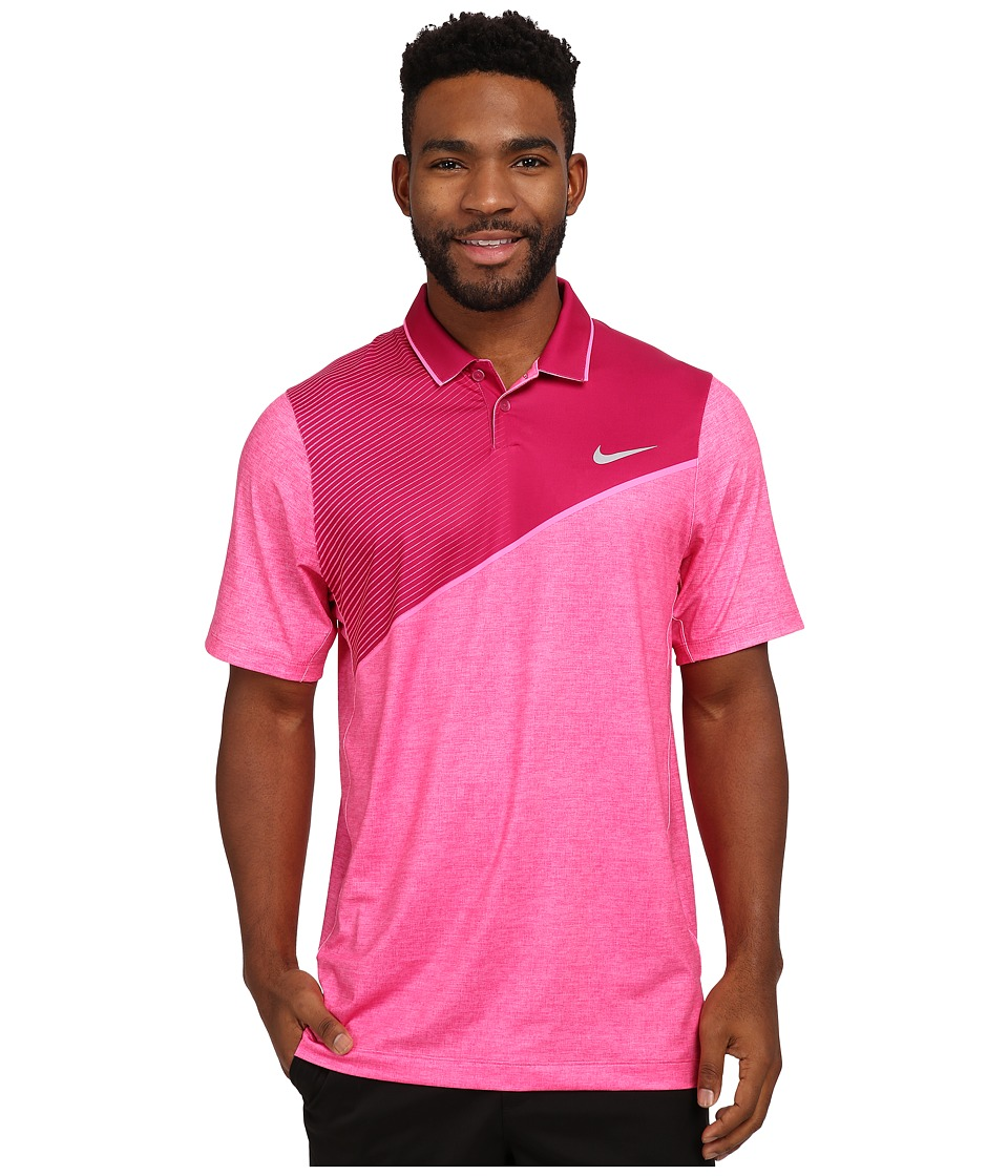 Nike Golf - Momentum 26 Polo (Sport Fuchsia/Pink Powder/Wolf Grey) Men's Clothing