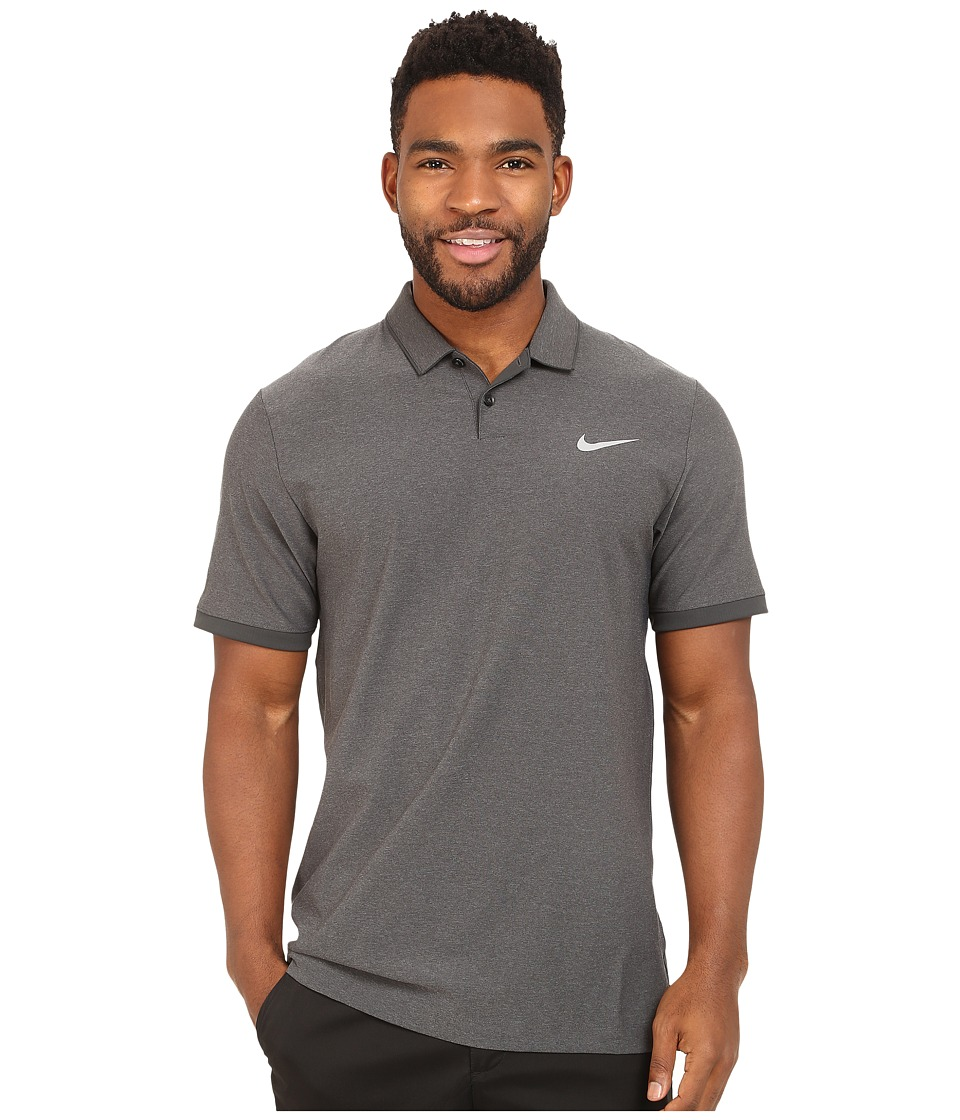 Nike Golf - Mobility Woven Polo (Black/Heather/Anthracite/Wolf Grey) Men's Clothing