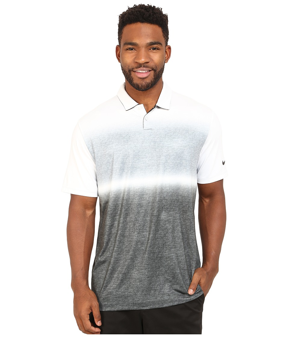 Nike Golf - Mobility Gradient Polo (Black/White/Anthracite) Men's Clothing