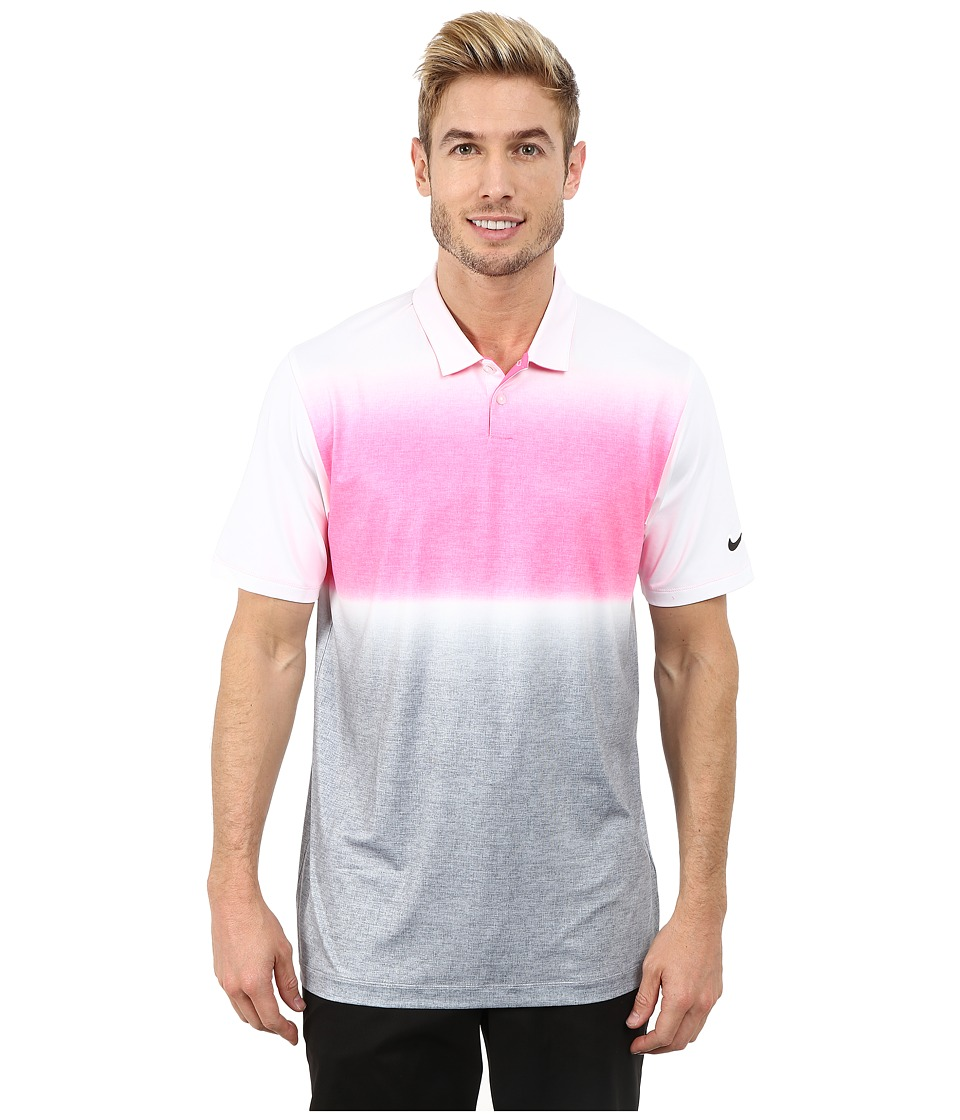 Nike Golf - Mobility Gradient Polo (Pink Powder/White/Anthracite) Men's Clothing