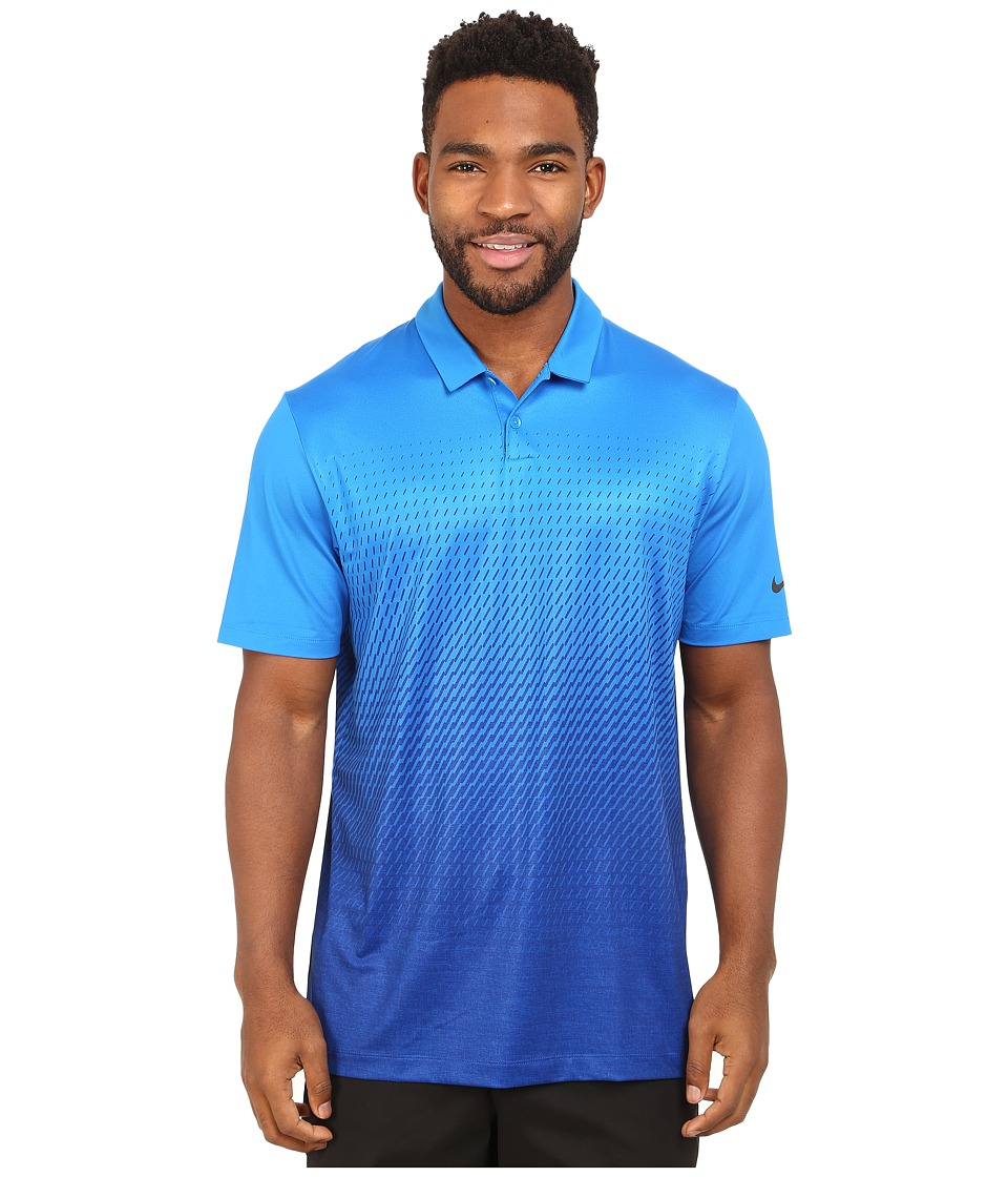 Nike Golf - Mobility Fade Print Polo (Photo Blue/Deep Royal Blue/Anthracite) Men