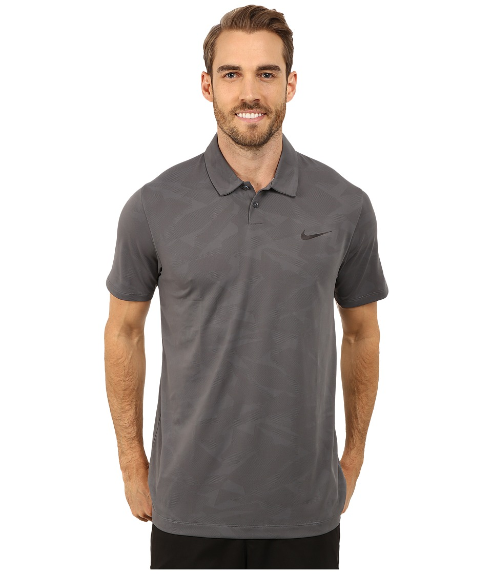 Nike Golf - Mobility Camo Jacquard Polo (Dark Grey/Pure Platinum/Anthracite) Men's Clothing