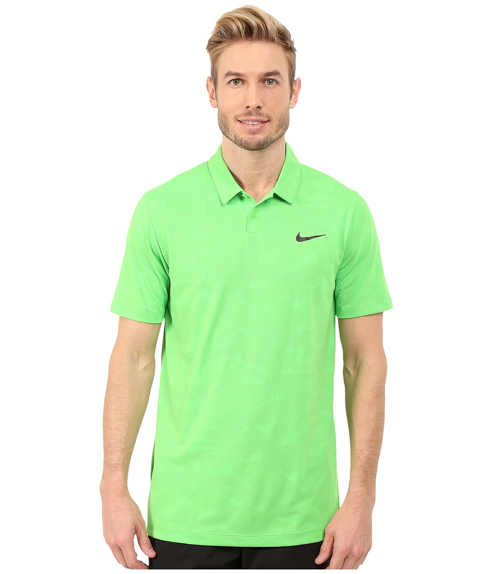 Nike Golf - Mobility Camo Jacquard Polo (Green Pulse/Anthracite/Anthracite) Men's Clothing