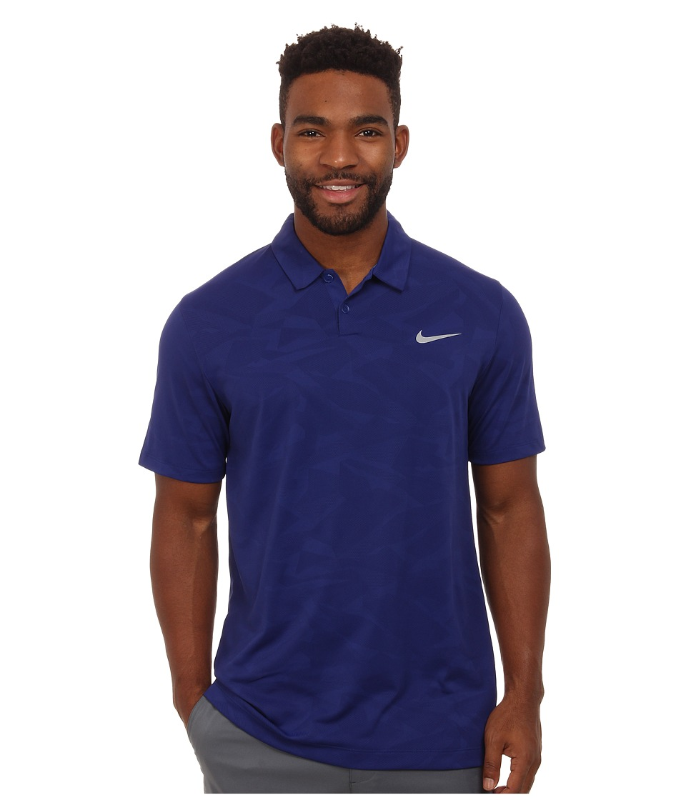Nike Golf - Mobility Camo Jacquard Polo (Deep Royal Blue/Photo Blue/Wolf Grey) Men's Clothing