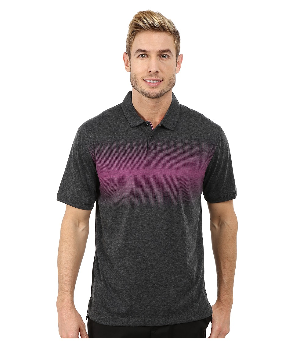 Nike Golf - Transition Print Polo (Black/Pink Powder/Wolf Grey) Men's Clothing
