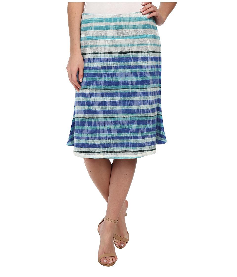 Nally & Millie - Striped Reversible Skirt (Blue Multi) Women