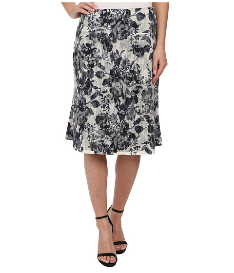 Nally & Millie - Floral Reversible Skirt (Black/White) Women's Skirt