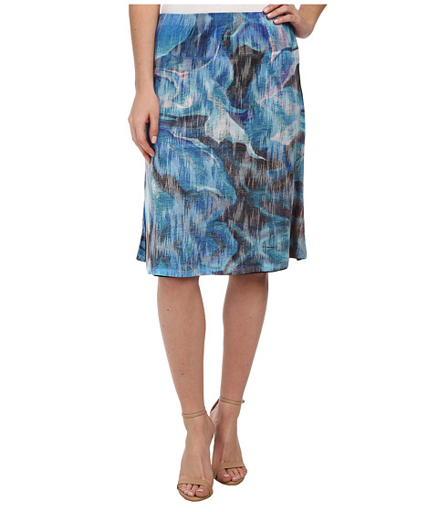 Nally & Millie - Floral Reversible Skirt (Blue Multi) Women