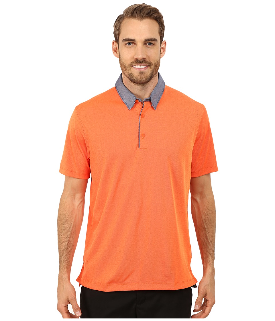 Nike Golf - Transition Chambray Polo (Electro Orange/Total Orange/Anthracite) Men's Clothing