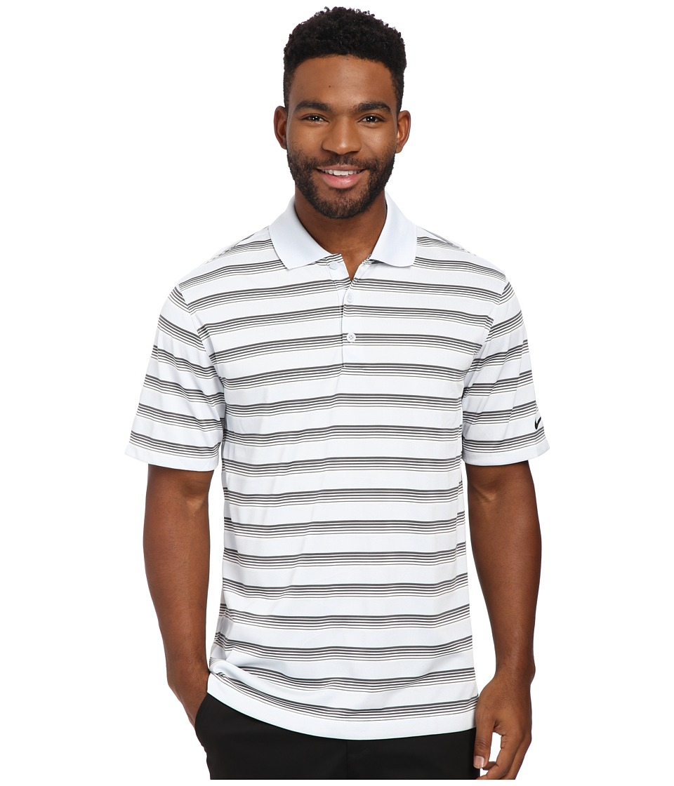 Nike Golf - Tech Vent Stripe Polo (Pure Platinum/Dark Grey/Anthracite) Men's Short Sleeve Knit